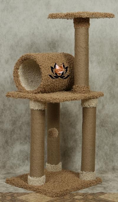 Изготовление домиков когтеточек для кошек
