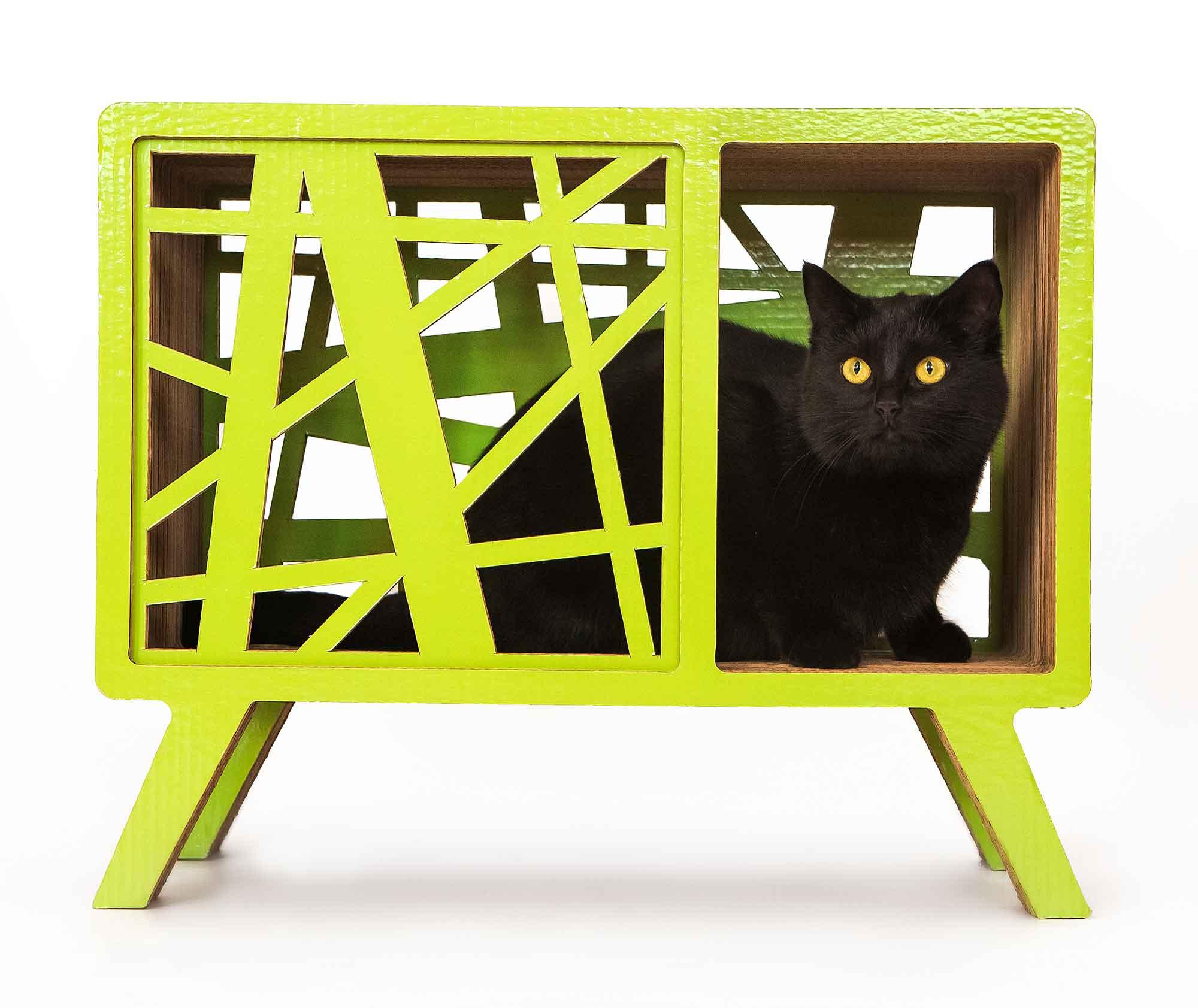 Интерьерный домик-когтеточка для кошек Pettel