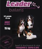 Сухие корма для собак Leader